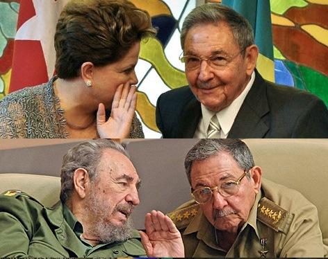Dilma e Fidel Castro