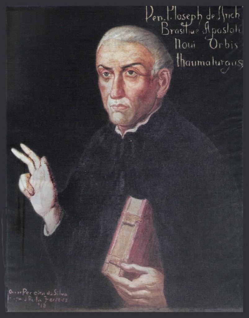 São José de Anchieta - Apóstolo do Brasil, fundador da cidade de São Paulo e co-fundador do Rio de Janeiro.