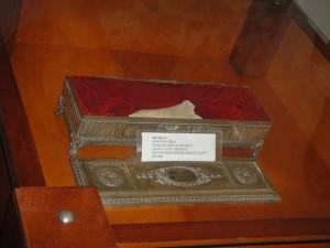 Relicário contendo a tíbia de São José de Anchieta