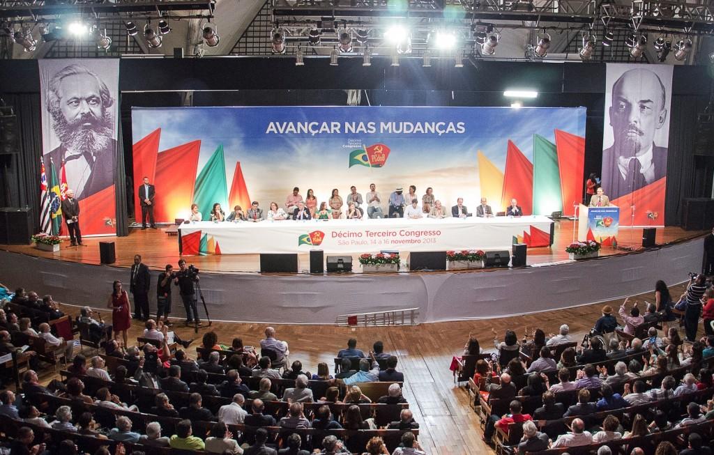 Presidente Dilma Rousseff no 13º Congresso do Partido Comunista do Brasil