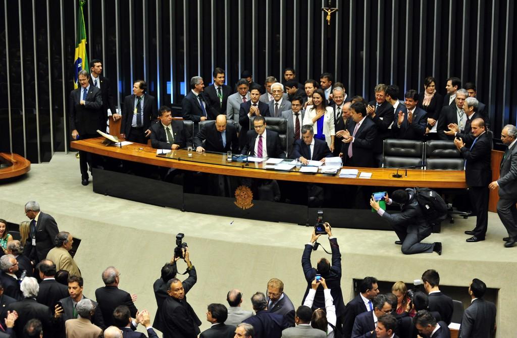 """No dia 2 de abril, Maria Corina em Brasília, na Câmera dos Deputados, em meio a aplausos e vaias de petistas, pode falar da """"cubanização"""" da Venezuela com Chávez e agora com a ditadura de Nicolás Maduro. [Foto: Gustavo Lima]"""