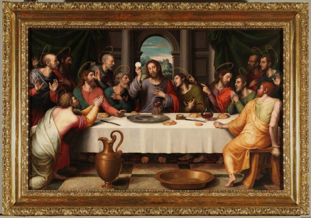 Santa Ceia (1550), do pintor espanhol Joan de Joanes (1510 - 1579), Museu del Prado