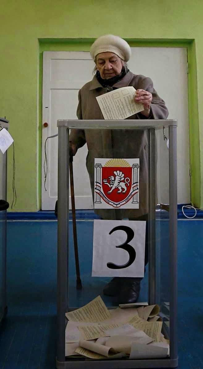 Presidência russa publica fraude na Crimeia: só 15% aprovaram anexação