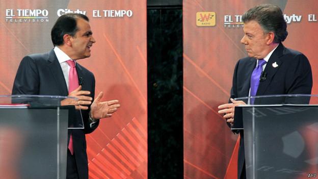 No dia 8 último encerraram-se as campanhas dos presidenciáveis. Numa pesquisa da revista Semana, Zuluaga conta com 49% das intenções de voto e Santos conta com 41%.