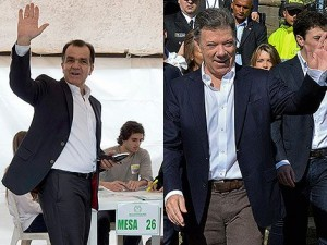 Zuluaga e Santos disputarão a vitória no segundo turno das eleições colombianas