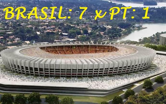 Brasil: 7 x PT: 1