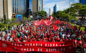 """MTST:  """"Não vamos ficar de braços cruzados. A gente vai mostrar que não está de brincadeira, que a gente cansou. Vamos botar a cidade de São Paulo chacoalhar, para tremer"""".("""