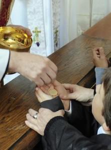 """""""A prática moderna de receber a Comunhão na mão contribui gradualmente para a perda da fé católica na presença real e na transubstanciação"""""""