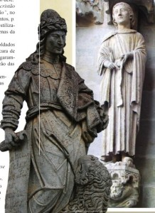 Daniel (à esq. obra de Aleijadinho; à dir. na Catedral de Amiens)