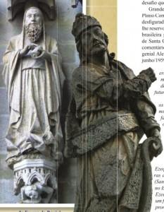 Ezequiel (à dir. obra de Aleijadinho; à esq. na Catedral de Amiens)