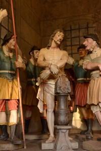 A flagelação de Nosso Senhor amarrado a uma coluna