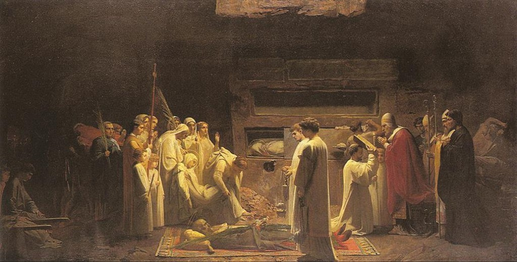 Os mártires na catacumba - Jules Eugène Lenepveu, 1855. Musée d´Orsay, Paris.