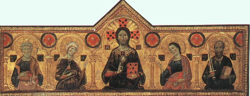 Nosso Senhor ladeado de alguns santos. Obra de Jacopo di Meliore