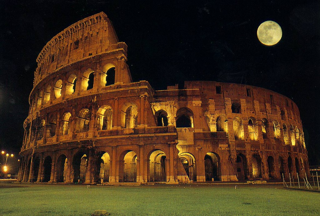 Coliseu de Roma, onde inúmeros cristãos foram martirizados na época pagã