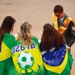 Foto acima e abaixo, jovens do Instituto em atuação em Brasília [Fotos Paulo Américo]