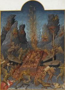 """Iluminura do livro """"Les Très Riches Heures du duc de Berry"""" (Atualmente conservado no museu Condé, em Chantilly)."""