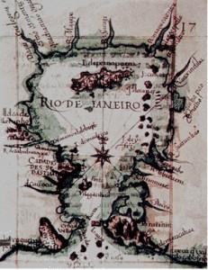 Mapa do Rio de Janeiro por ocasião da expulsão dos calvinistas