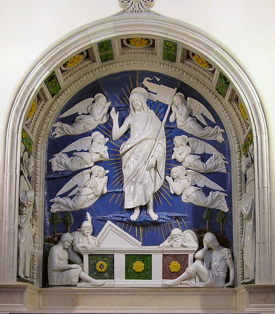 A Ressurreição. Obra do escultor florentino, Andrea della Robbia (1435 - 1525)