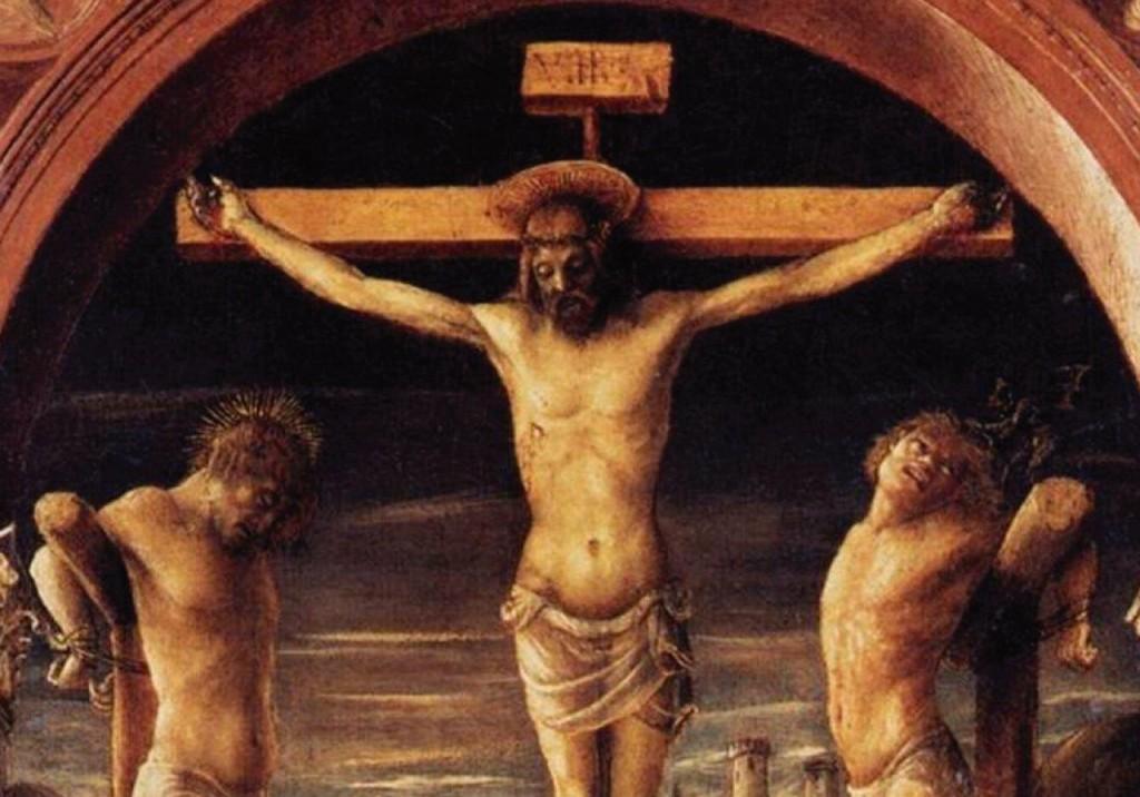 As Três Cruzes (detalhe) - Vincenzo Foppa (séc. XV). Museus Diocesano de Milão (Itália).