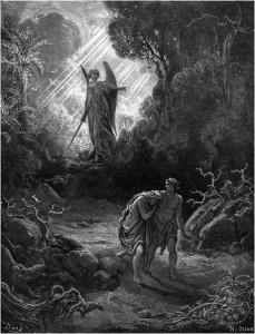 Expulsão de Adão e Eva do Paraíso Terrestre (gravura de Gustavo Doré).