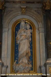 Imagem no altar lateral da Igreja do Sagrado Coração de Jesus (SP) [Foto PRC]