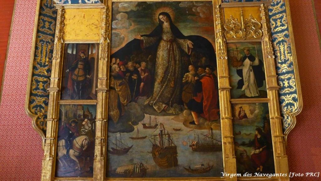 Virgem dos Navegantes, obra de Alejo Fernández (1531-1536). Primeira pintura sobre a descoberta da America. Alcázar de Sevilha (Espanha) [Foto PRC]