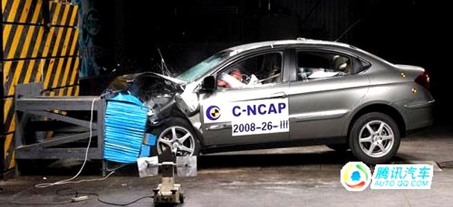 Em matéria de segurança: Nota zero para automóvel chinês