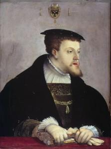 Carlos V, retratado por Christoph Amberger, 1532