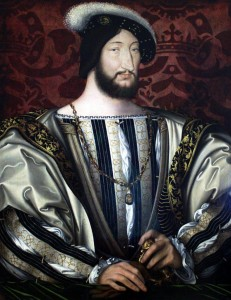 Francisco I, retratado por Jean Clouet (1530), Museu do Louvre, Paris.