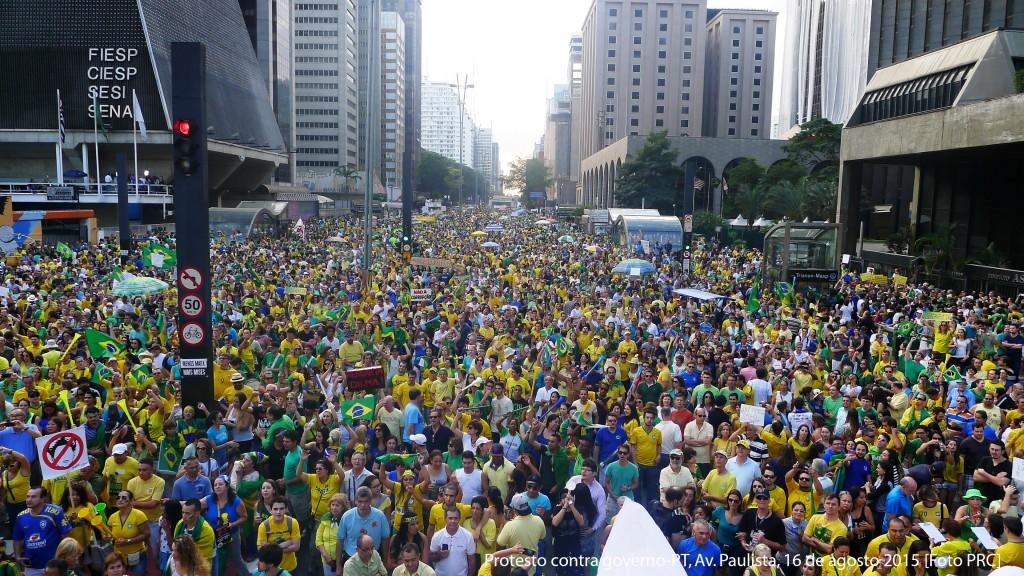 Protesto contra governo-PT, Av. Paulista, 16 de agosto 2015 [Foto PRC]
