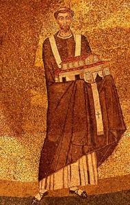 Moisaico do Papa Honório I na Basílica de Santa Inês Extra-Muros (Roma)