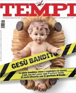 """O Menino Jesus proibido em dioceses italianas para não desagradar os islâmicos.  A pungente capa da revista """"Tempi"""" que evoca """"a justiça de Herodes"""""""