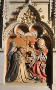 Santo Tomás com o Papa Urbano V na definição do Dogma da Transubstanciação
