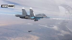 Todo o bombardeio foi oficialmente contra o Exército Islâmico. Foto do Ministério de Defesa russo