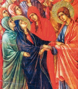 Crucifixão (detalhe) - Duccio di Buoninsegna (1308-1311) Museu dell´Opera del duomo, Siena (Itália)