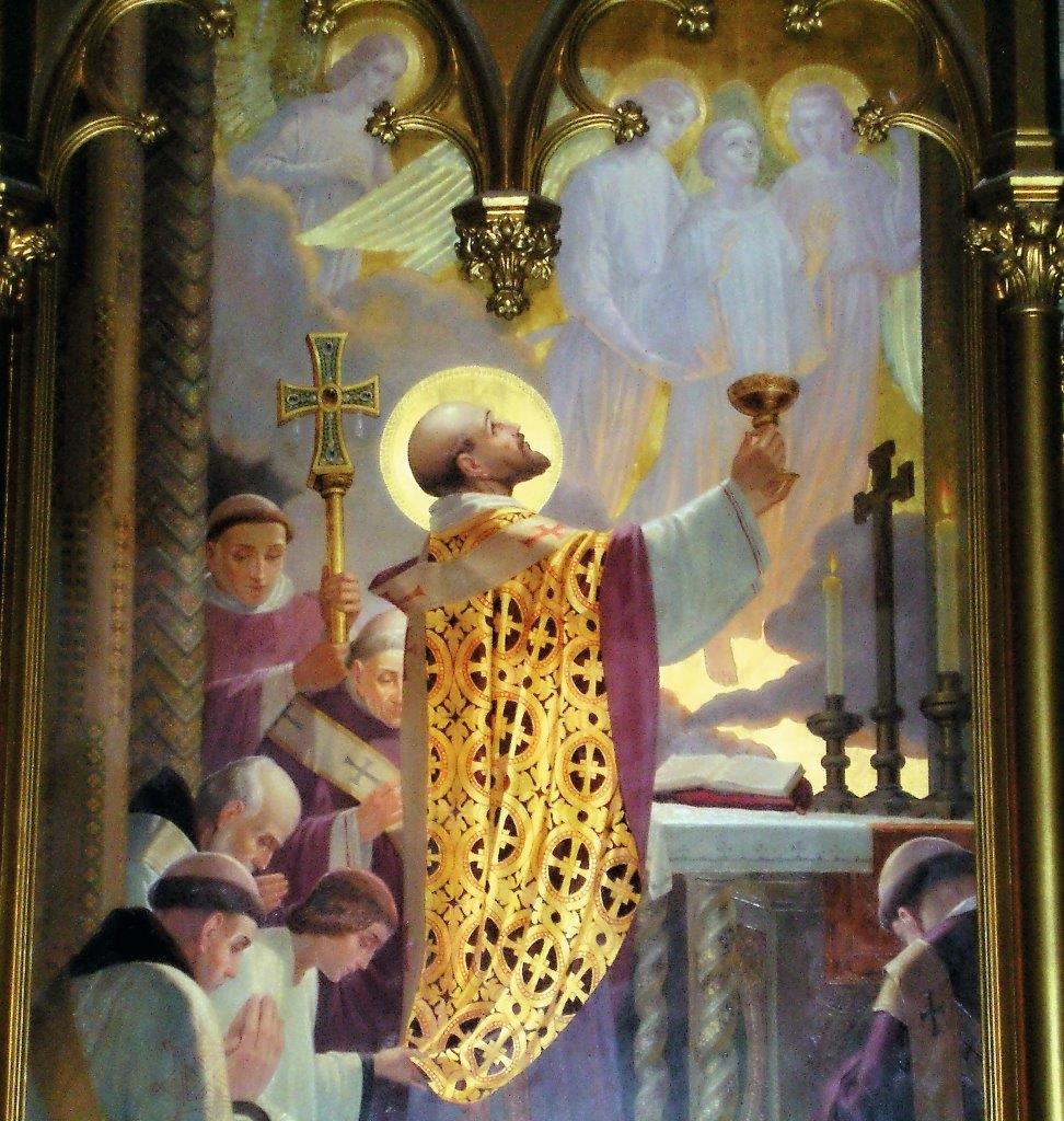 'O Papa São Gregório Magno (540 - 604) celebra a Santa Missa tão odiada por Lutero