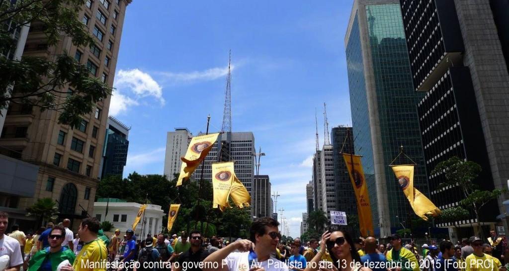 Manifestação contra o governo PT na Av. Paulista no dia 13 de dezenbri de 2015 [Foto PRC]