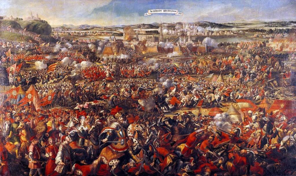 Batalha de Viena para repelir a invasão muçulmana em setembro de 1683.