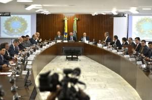 Primeira reunião ministerial do governo interino Michel Temer