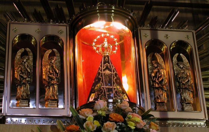Imagem de Nossa Senhora Aparecida no carnaval!?