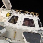 """A """"Cúpula"""" da Estação Espacial Internacional onde o astronauta comungava"""