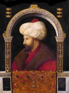 Maome II, pintura de Gentile_Bellini