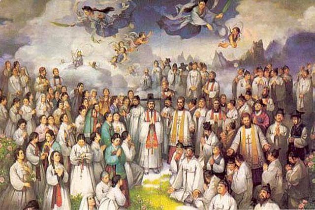 Pintura representando os mártires coreanos