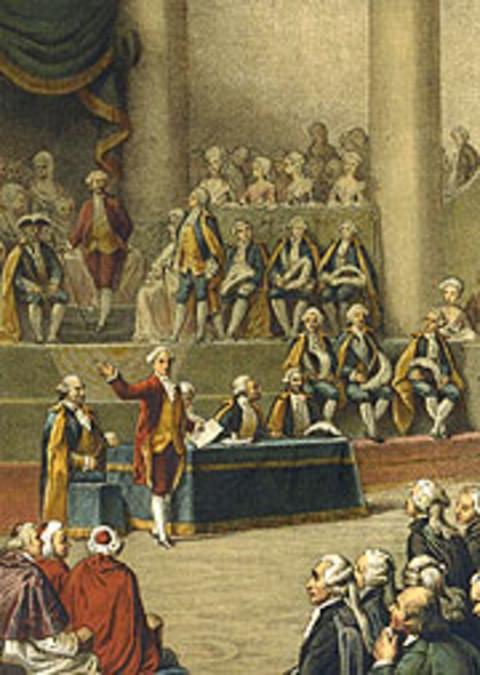 Quadro representando a abertura dos Estados Gerais em Versailles, em 5 de maio de 1789