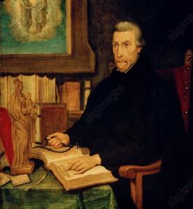 São Pedro Canísio, no Concílio de Trento, combateu os erros do luteranismo  e do calvinismo