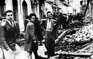 """Fidel Castro (círculo) na Colômbia, durante o trágico """"Bogotazo"""""""
