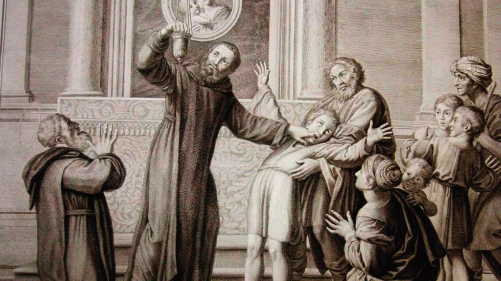Representação de um exorcismo