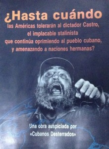 Fidel Castro por ocasião de seu aniversário, quando completou 90 anos em agosto passado. Certamente uma das últimas fotos do tirano em público, ladeado por Raul Castro e Nicolás Maduro.