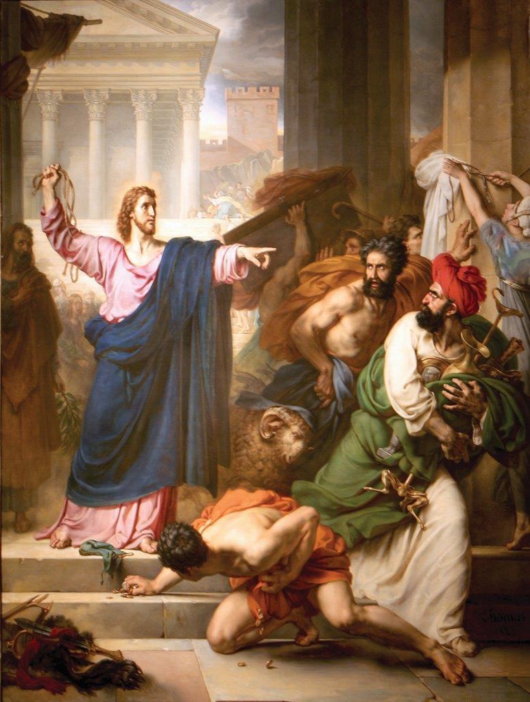 O zelo pelos direitos de Seu Pai, levou Nosso Senhor Jesus Cristo a expulsar os vendilhões do Templo