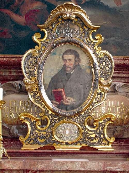 Pintura de São Pedro Canísio na Igreja da Santíssima Trindade, da Universidade de Innsbruck